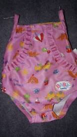 Baby swimming costume zap Creations