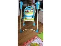 3in 1 baby swing rocker, recliner chair and swing
