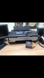 Epson Stylus photo 1400 A3 printer & Ink flow system plus accessories