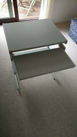 Computer Desk - Grey with roll out keyboard shelf