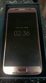 Rose gold samsung galaxy S7 32gb unlocked