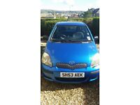 Toyota Yaris 1.0 2003 in good condition, low mileage, mot April 2019