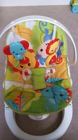 Fisher Price Rainforest Friends Fun n Fold baby bouncer