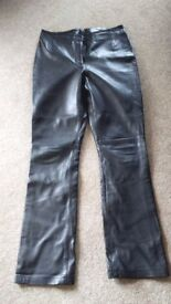 NEXT Women's leather trousers. Size 10 Long