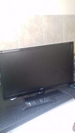 """Bush 24"""" full HD television with built in dvd player and freeview"""