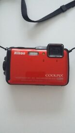 Nikon coolpix AW120 waterproof 18m, 59ft. Shockproof, full HD, WiFi.