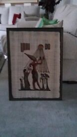 Framed Egyptian Papyrus Picture