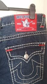 True Religion Designer Jeans. New/unworn with tags attached. 34/36 inch Waist. £100.