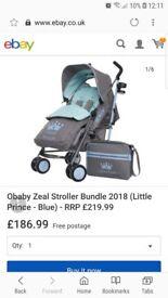 Obaby little prince blue stroller