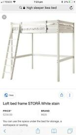 Loft bed frame double Second Hand