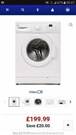 Beko 8kg, 5 star rated washing machine, 6 months old and still under warranty. Pick up only