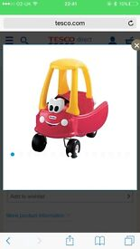 Kids coupe ride in car
