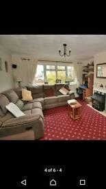Corner suite, 6 seater, 2 recliners