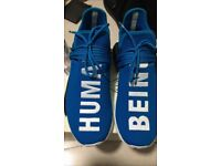 SIZE9 ADIDAS 'BLUE' HUMAN RACES FREE DELIVERY
