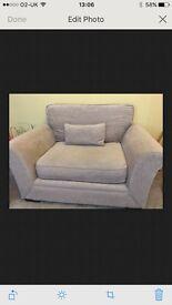 Cuddle chair snuggle sofa grey
