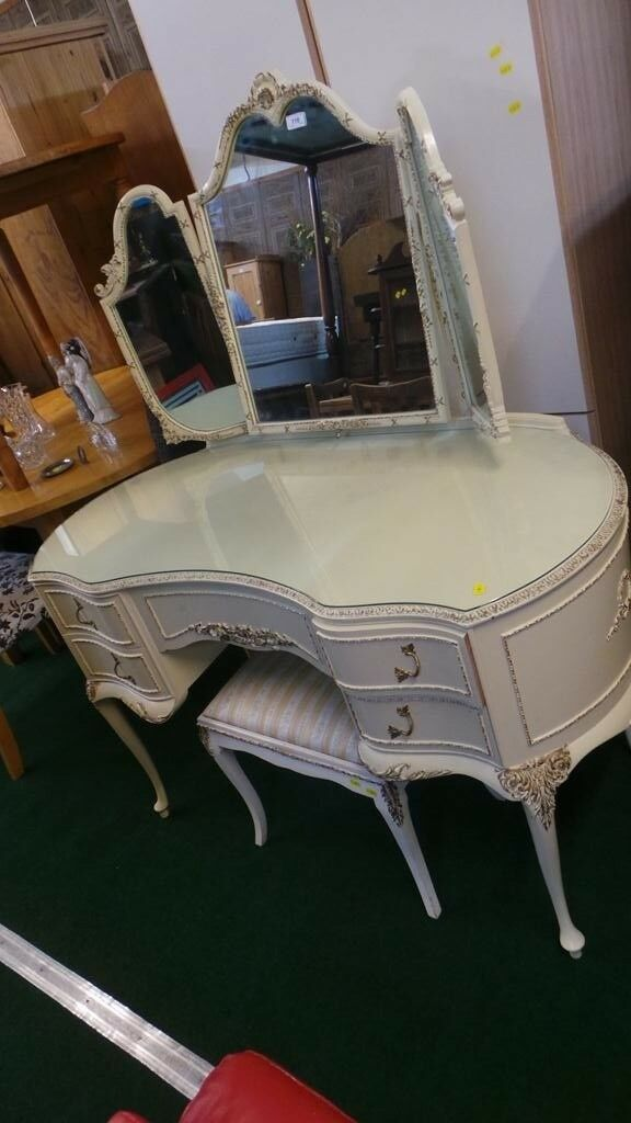 Vintage-french-Style-Olympus-Dressing-Table-Triple-Mirrors-5-Draws | in  Bristol | Gumtree