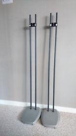 Pair of height adjustable speaker stands