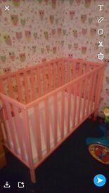 pink cot