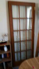 Oak internal double doors 78 x 30 very good condition