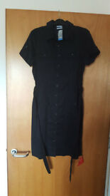 On trend ladies black shirt dress by Oasis. Never worn, labels still attached. £3