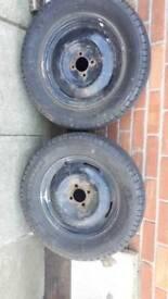 Austin A40 vintage car wheels