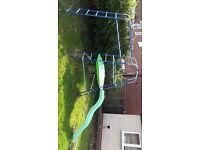 TP climbing frame with slide & monkey bars