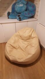 Beige bean bag