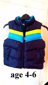 bluezoo fleece lined bodywarmer/gilet (age 4-5)