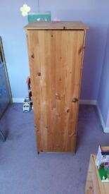 Single Pine Wardrobe Suitable for Childs room