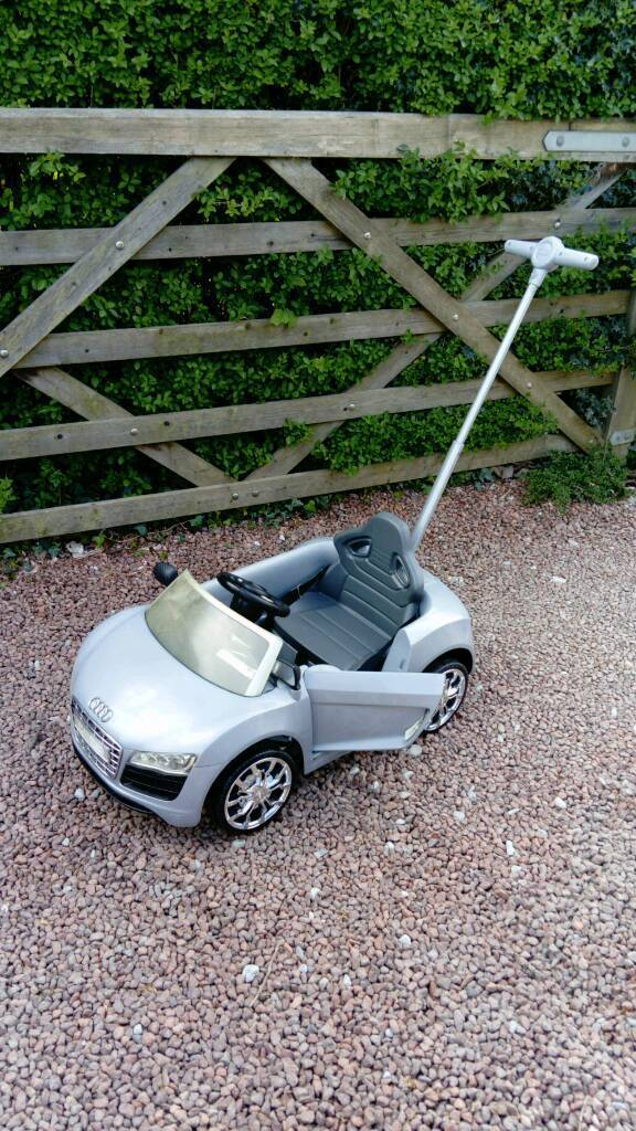 Audi A8 Push Along Car With Adjustable Parent Handle In Marple