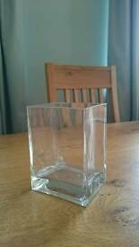 17 Wide rectangular vase