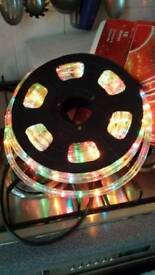 10 metre multi coulered rope light.multi functional sequences..great condition..outdr indr