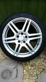 "Mercedes 18"" alloy wheels staggered"