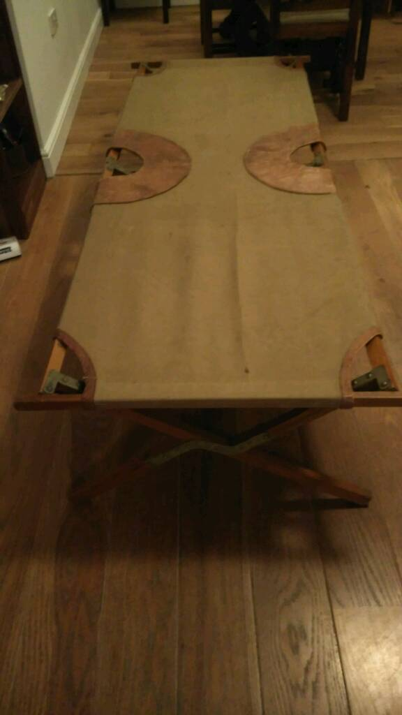 Ww2 Officers private purchase folding camp bed