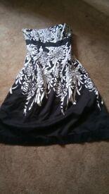 Coast strapless dress. Size 10