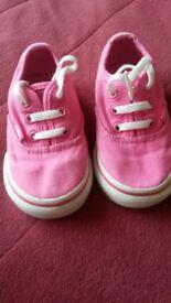 Girls pink vans infant size 4