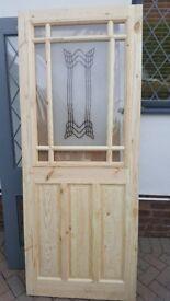 pine glazed door 32 inces wide