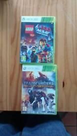 Xbox 360 games lego transformers