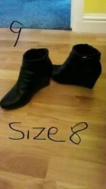 Ladies shoes & boots size 7 & 8