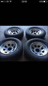 225 70 15 off road wheels & tyres,fortrak shogun Jimmy defender discovery