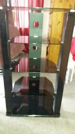 5 tier glass display/media unit.
