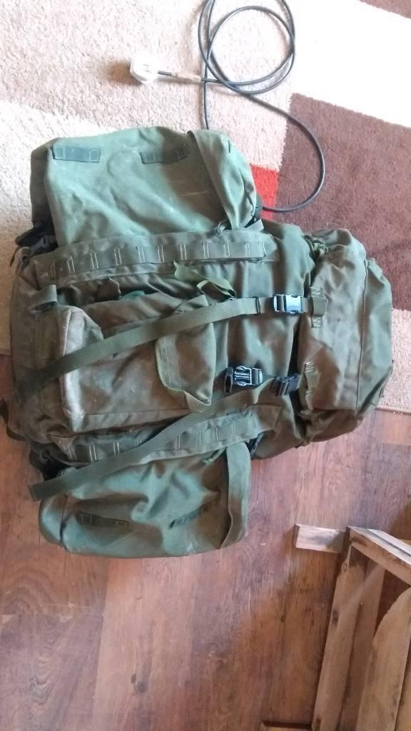 839f7aa1a813 British Army Olive Green Short Back Bergen Rucksack 120l