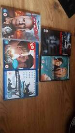 3x Blu ray, 3x dvds