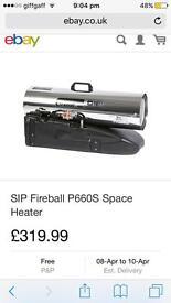 Sip fireball p660 space heater blow petrol heater