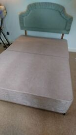 Double Divan Base with 4 Drawers and Detachable Headboard