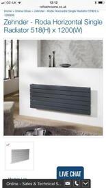 Horizontal designer anthracite radiator 518 x 1200mm