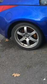 """Rays 18"""" alloys and tyres 5x114"""