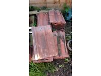 reclaimed red roof tiles about 50 of them