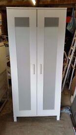 Ikea Single White Aneboda Wardrobe