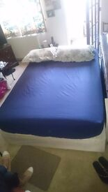 Double bed matress base & headboard. 1 year old and spotless. £50